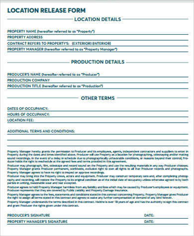 blank location release form1