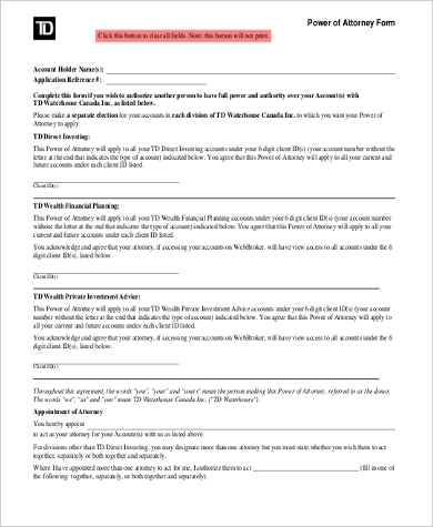 Sample Power Of Attorney Form Free - 9+ Free Documents In Word, Pdf