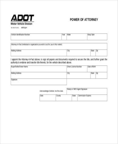 Sample Blank Power Of Attorney Forms   Free Documents In Word Pdf