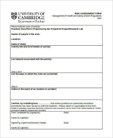 blank risk assessment form in word format1