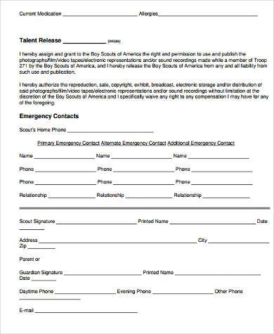 Sample Boy Scout Physical Forms - 9+ Free Documents in Word, PDF