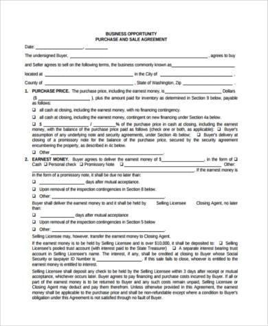 business asset agreement form