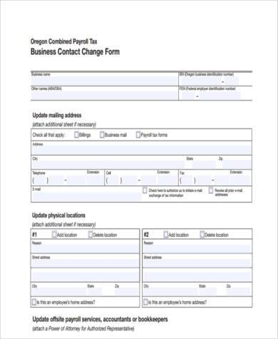 business contact form example
