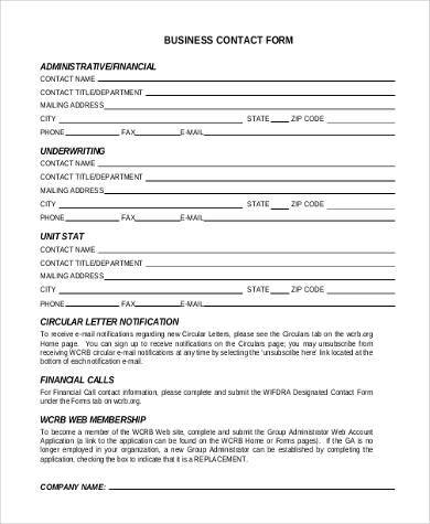 business contact form example1