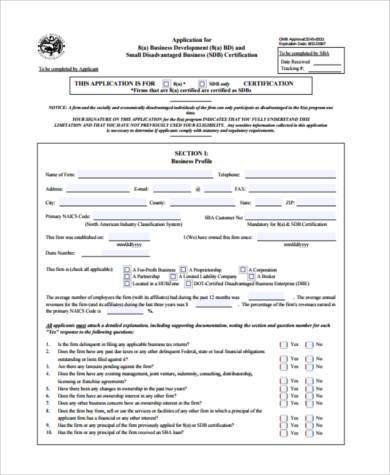 business development tracking form