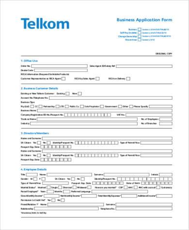 business form example in pdf