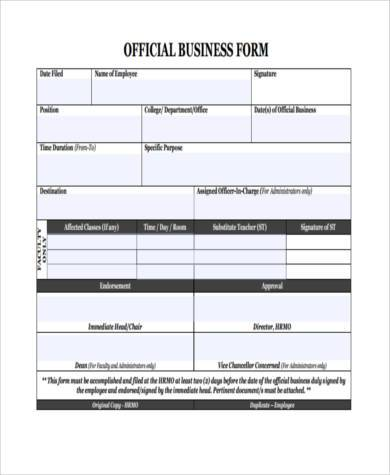 Business Form Samples  Free Sample Example Format Download