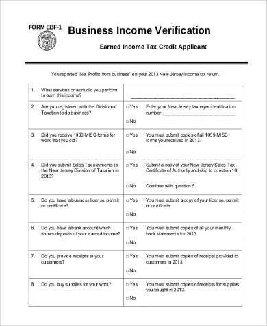 business income verification form1