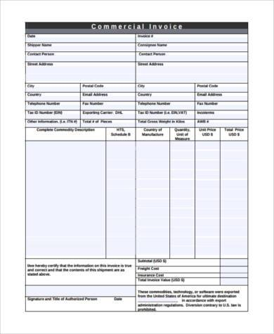 business invoice form example3