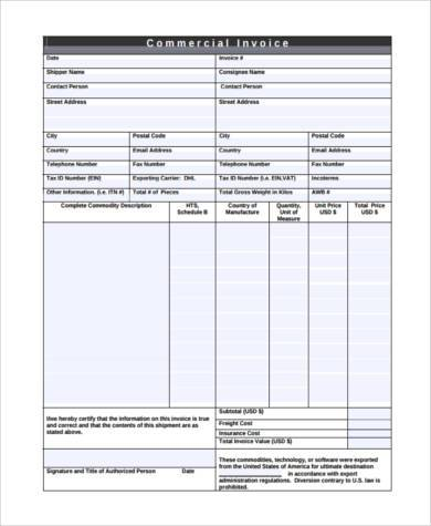 business invoice form sample1