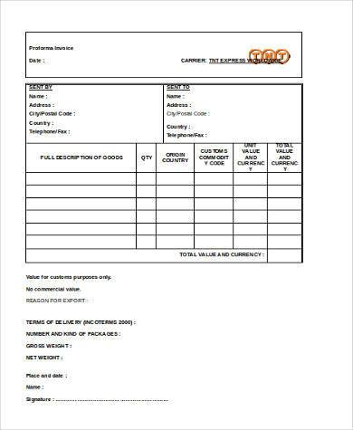 business invoice form in word format