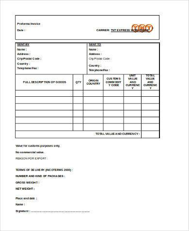 business invoice format word