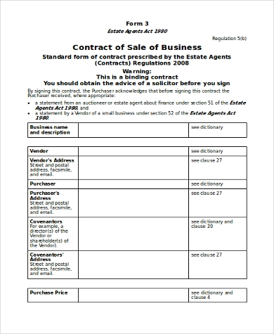 Business Contract Agreement Car Sales Contract And Agreement