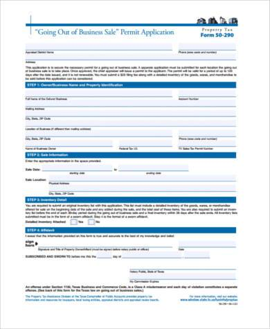 business sale form in pdf