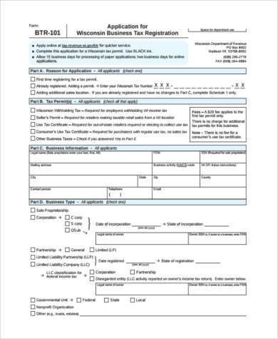 business sale tax form