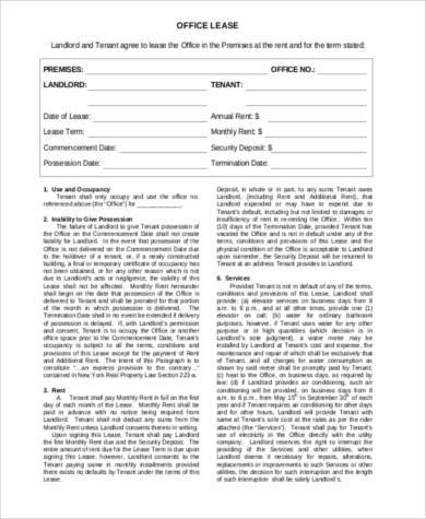 business tenant lease agreement