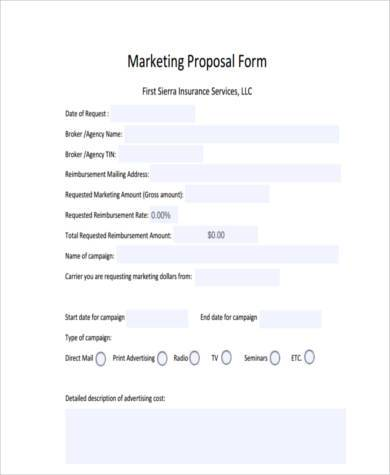 campaign marketing proposal form