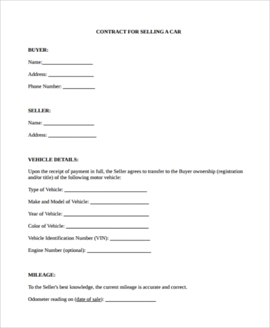 car purchase offer form pdf