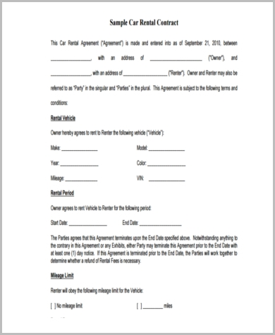 vehicle sublease agreement template sample sublease contract form 8 examples in word pdf