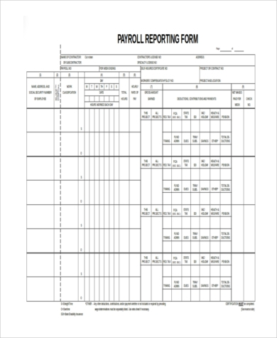 certified payroll form excel - Certified Payroll Form