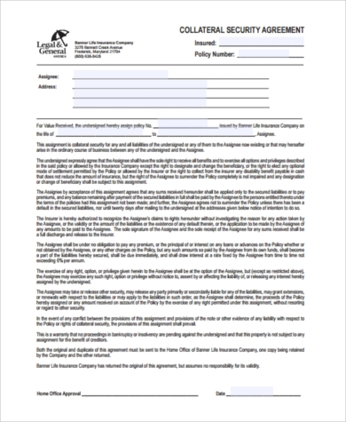 Security Agreement Form Samples   Free Documents In Word Pdf