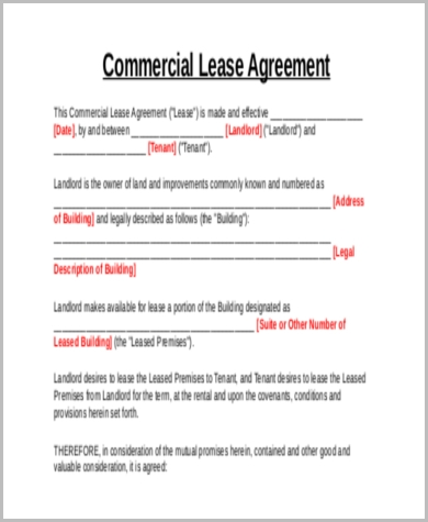 commercial lease rental agreement