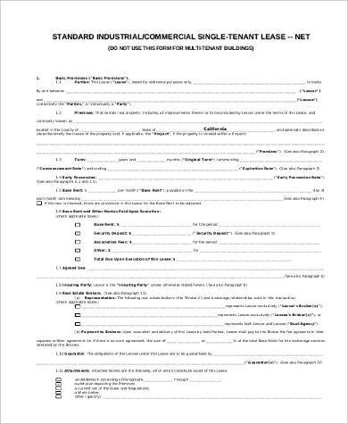 commercial tenant lease agreement