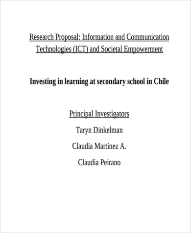 communication research proposal sample