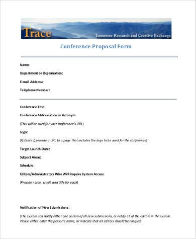 conference proposal form in pdf