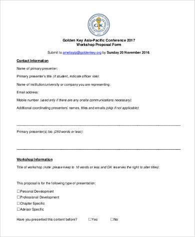 conference workshop proposal form