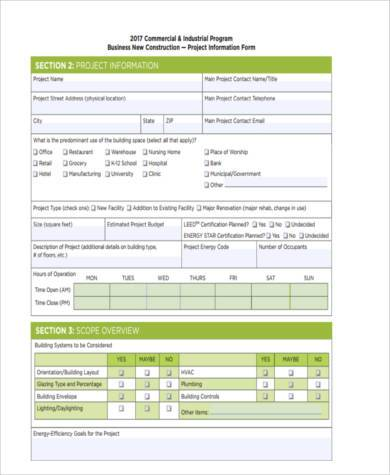 construction business form