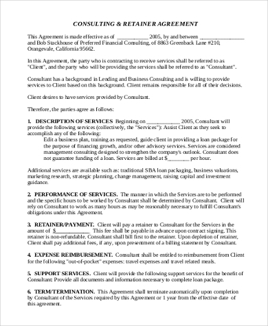 Consultant Agreement Form Samples - 9+ Free Documents in Word, PDF