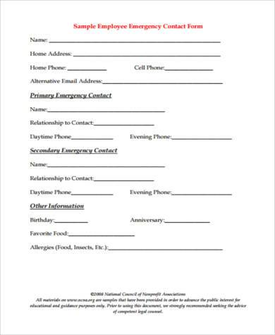 contact form example in pdf
