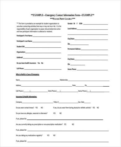 Contact Form Examples - 8+ Free Documents In Word, Pdf