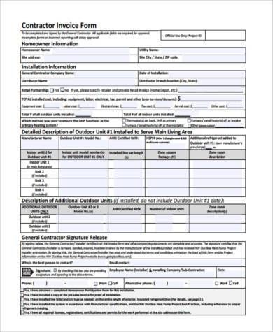 Sample Job Invoice Forms Free Documents In Word PDF - Job invoice form