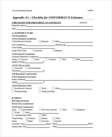 contractors cost estimate form1