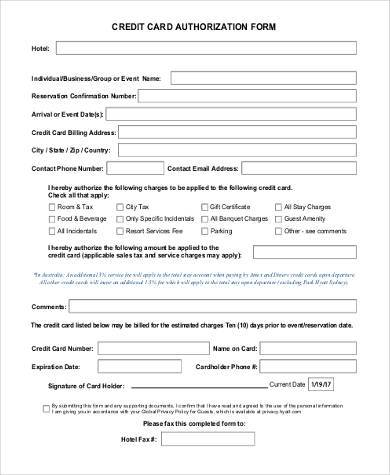 credit card authorization form sample1
