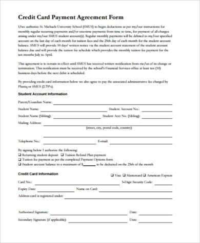 payment arrangement form