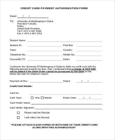 Payment authorization form samples 9 free documents in word pdf credit card payment authorization form1 altavistaventures Choice Image