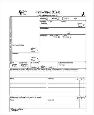 deed transfer form free