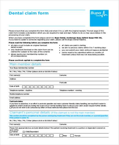 Claim Form Samples  Free Sample Example Format Download