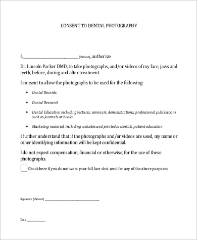 Sample Photo Consent Forms   Free Documents In Word Pdf