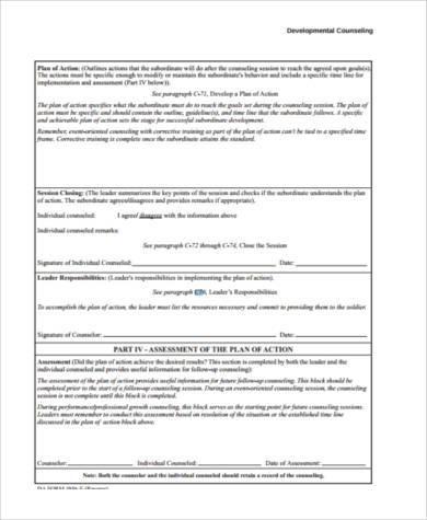 developmental counseling form pdf