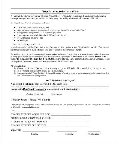 direct payment authorization form1