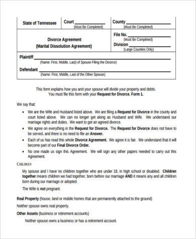 Sample Settlement Agreement Forms - 9+ Free Documents In Word, Pdf