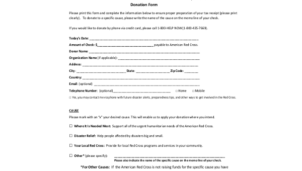 sample donation receipt forms 8 free documents in pdf