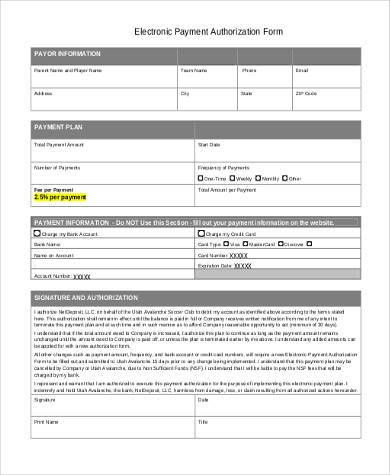 electronic payment authorization form1