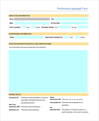 employee appraisal form