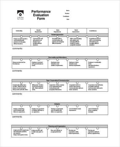 worker evaluation template