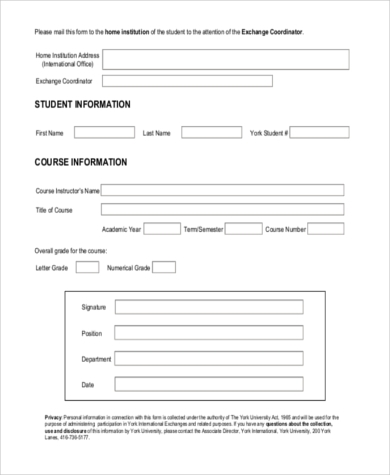 employee course evaluation form